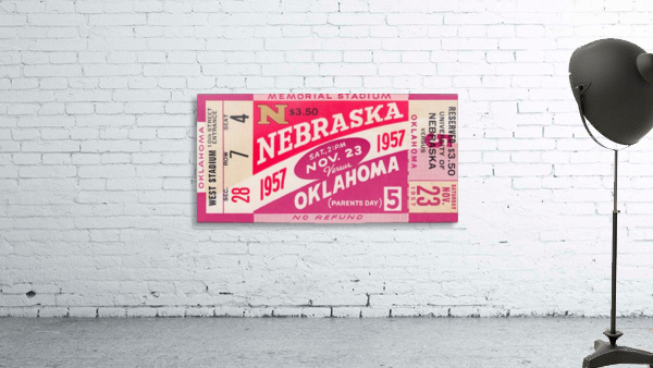 1957_College_Football_Nebraska vs. Oklahoma_Historic Memorial Stadium Lincoln_College Wall Art