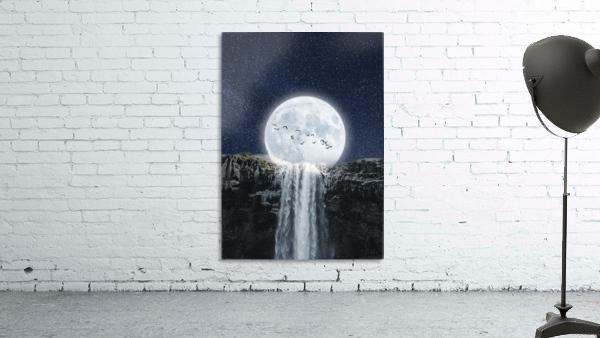 Moon Waterfall Fantasy