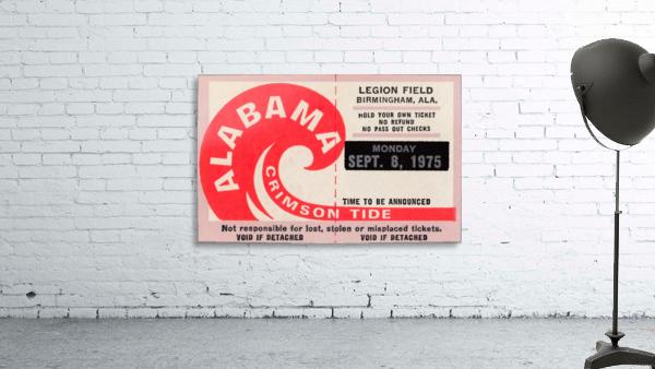 University of Alabama Crimson Tide Football Ticket Stub Art Poster