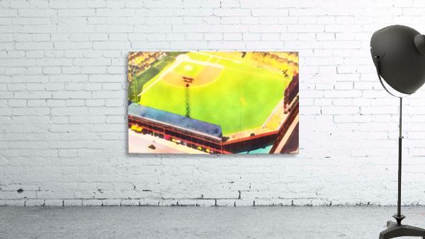 Baseball Ballpark Colorful Art Print