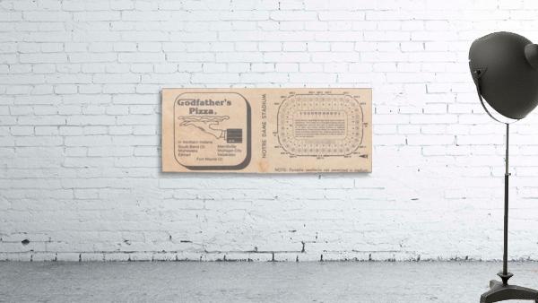 Retro Stadium Maps_Notre Dame Stadium Map_1982_South Bend Indiana Maps_Godfathers Pizza Ad_Artwork