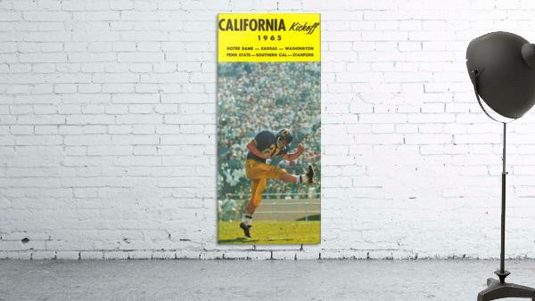 1965 College Football Photo California Bears Kickoff Punter Art