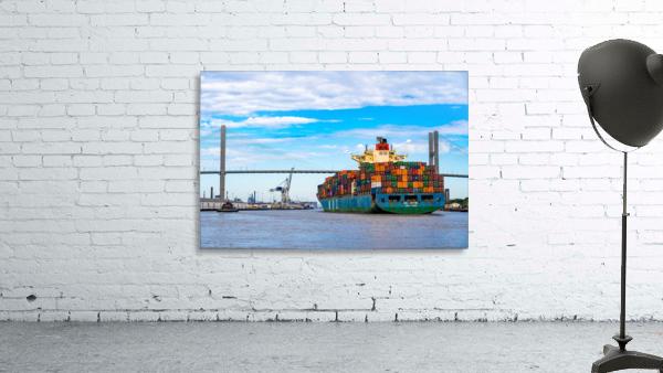 Cargo Ship on the Savannah River 04044