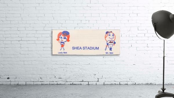 1977 new york mets art reproduction shea stadium retro baseball artwork row one brand
