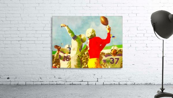 Vintage Football Print_Touchdown Catch Artwork