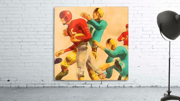 Vintage Football Jersey Art Print