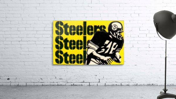 Vintage Pittsburgh Steelers Football Art Reproduction