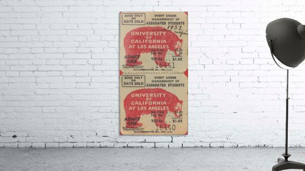 1937 USC Trojans vs. UCLA Bruins College Football Ticket Stub Art Admit One Row One Brand