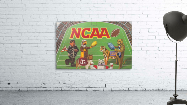 1984 NCAA Football Ad Reproduction_Vintage Sports Ads_Retro Sports Advertisement