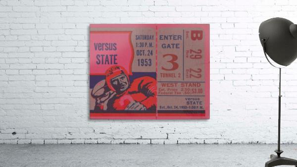 Vintage Football Ticket Stub Art