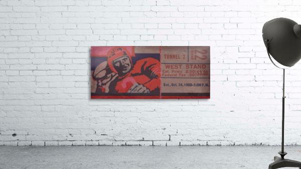 Vintage Football Art_Ticket Stub Reproduction Prints