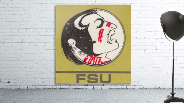 Vintage FSU Florida State University Seminoles Art_Ticket Stub Art Reproduction Print