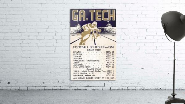 Vintage Football Schedules_College Football Schedule_1952 Georgia Tech Yellow Jackets_Schedule Art