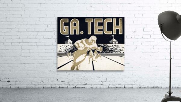 Vintage Georgia Tech Football Art_College Football Fine Art Print