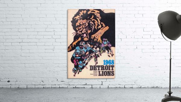 1968 Detroit Lions NFL Press Guide Reproduction Art_Detroit Michigan Gift Ideas