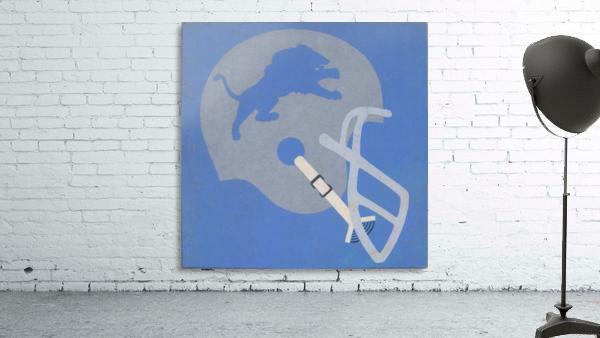 Vintage Detroit Lions Helmet Art (1965) Reproduction Fine Art Print (1)
