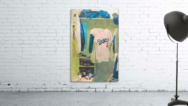 Vintage LA Dodgers Baseball Locker Room Art_Retro Baseball Art Print Los Angeles Dodgers Jersey_Art (1)