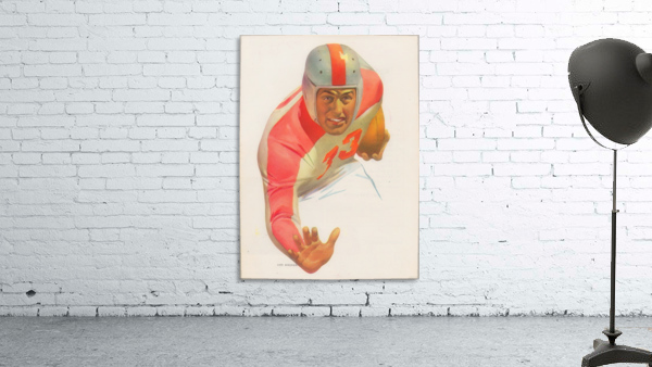 Lon Keller Football Art Reproduction_Best Vintage Football Art_Football Art Print Digitally Restored
