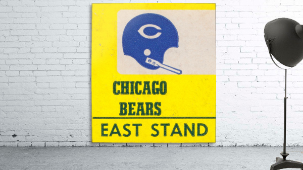 vintage chicago bears art poster metal canvas