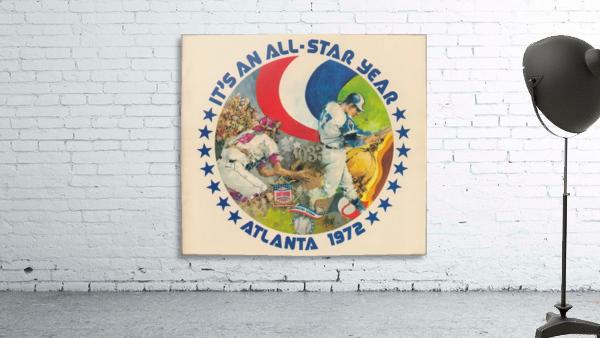 its an all star year atlanta 1972 baseball art