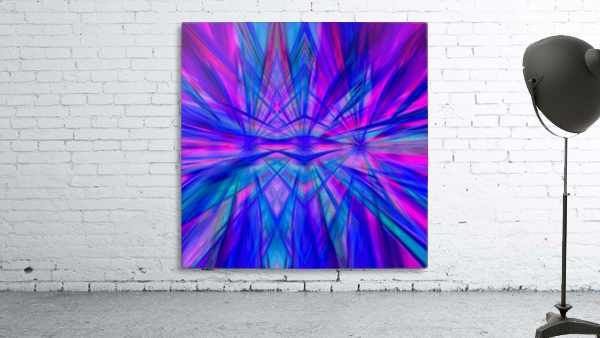 High Vitality - pink blue purple line abstract wall art
