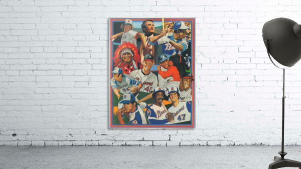 atlanta braves poster vintage baseball retro sports art reproduction