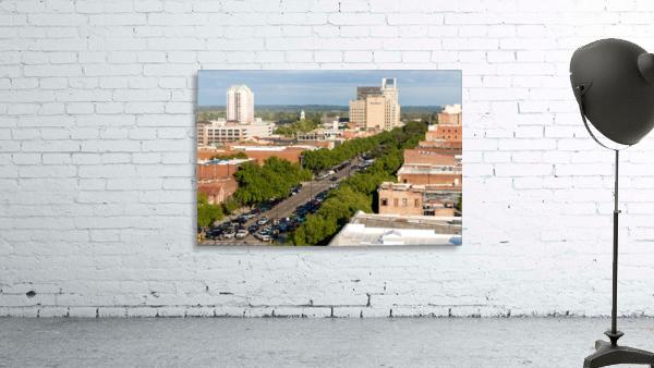 Broad Street Downtown Augusta GA Aerial View 8259