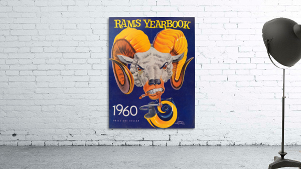 1960 nfl los angeles rams yearbook cover art price one dollar karl hubenthal