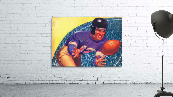 vintage football posters retro sports art print