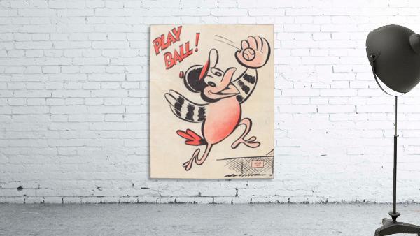 baltimore orioles posters wall art play ball art cartoon baseball print metal canvas acrylic artwork