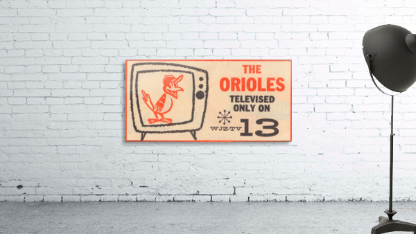 wjz tv baltimore maryland channel 13 television ad orioles baseball retro media ads