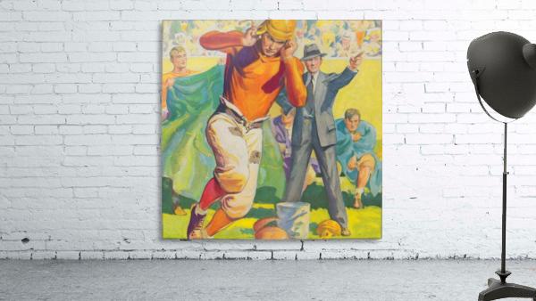 football poster american vintage gridiron sideline art print