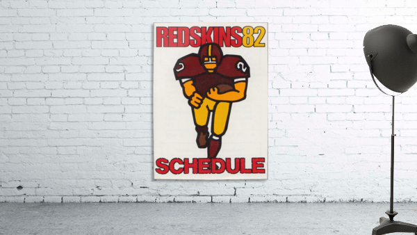 1982 Washington Redskins NFL Football Schedule Art Poster Row One Brand