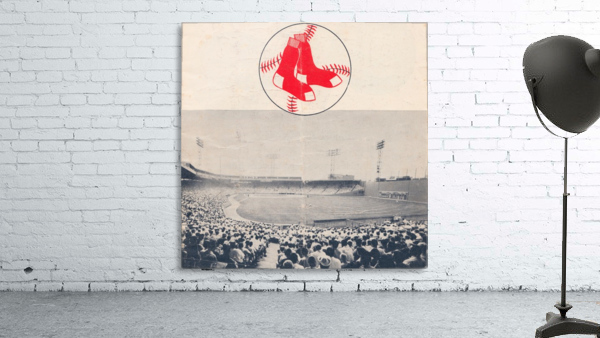 Vintage Fenway Park Poster_Boston Red Sox Photo Reproduction