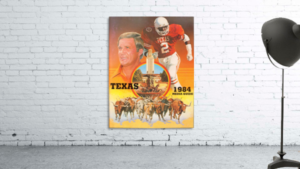 1984 Texas Longhorns Media Guide College Football Poster