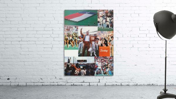 Texas Longhorns Football Poster_Texas Longhorn College Football Photo Collage