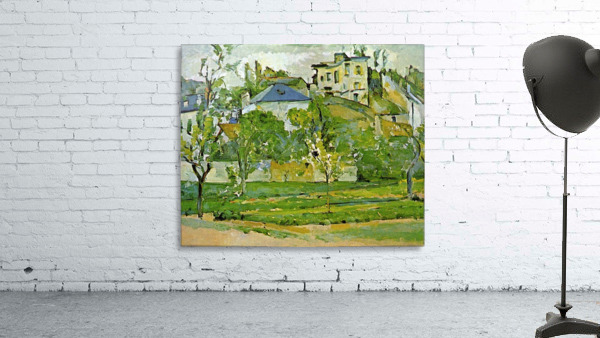 Fruit garden in Pontoise by Cezanne