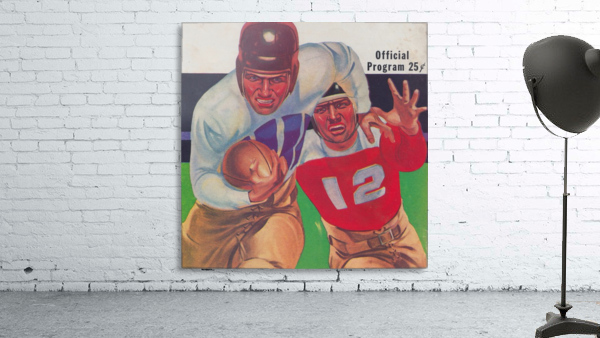 Vintage Football Framed Program Cover Art Posters (1937)