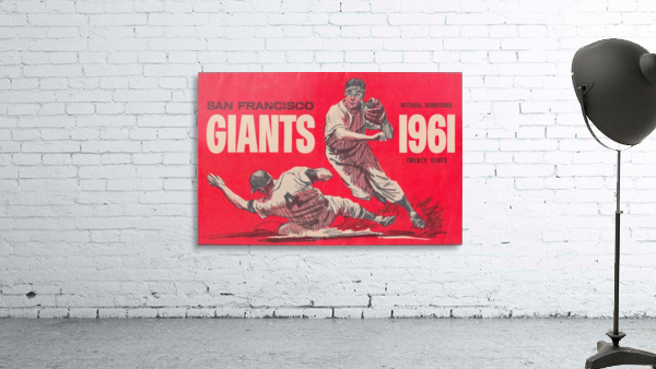 1961 San Francisco Giants Scorecard_Bay Area Home Decor Ideas