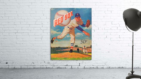 1959_Boston Red Sox_Baseball Yearbook_Poster_Vintage Baseball Art Print Reproductions