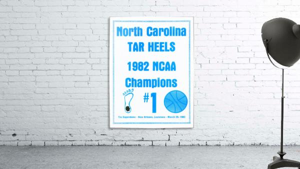 1982 North Carolina Tar Heels NCAA Champions Poster Reproduction Art
