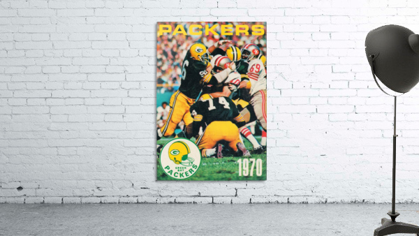 Green Bay Packers Football Poster Row One Brand Sports Art