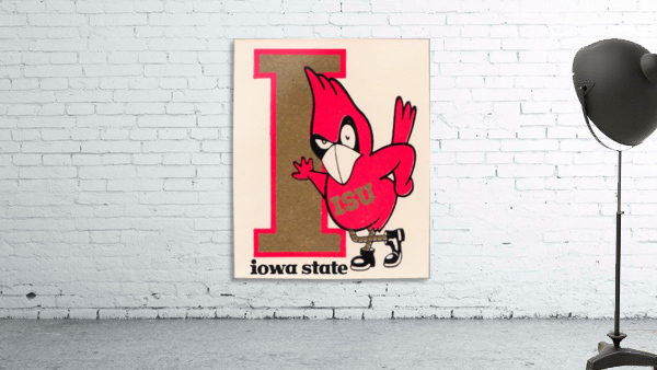 Vintage Iowa State University Cyclone Poster (1)