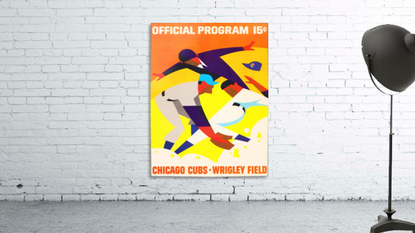 1967 Chicago Cubs Wrigley Field Program Poster_Vintage Cubs Art