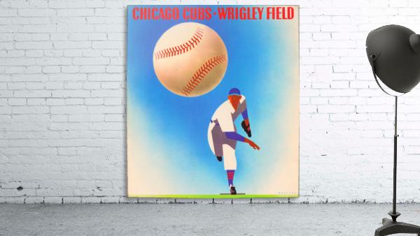 Retro Remix_Chicago Cubs Wrigley Field Art Poster_Vintage Cubs Artwork_Vintage Baseball Poster