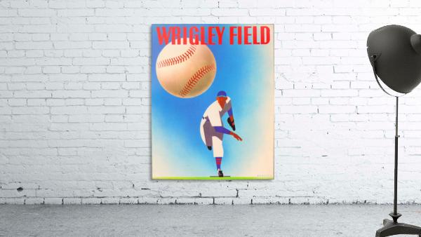 Row One Brand Wrigley Field Art Remixes_Public Domain Sports Art Remixes_Chicago Cubs Poster