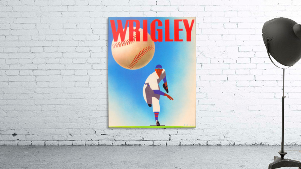 Row One Brand Sports Art Remixes_Public Domain Sports Art Remix_Chicago Cubs Wrigley Poster