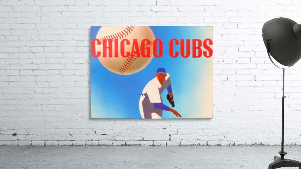 Sports Art Remixes_Public Domain Sports Art Creations_Chicago Cubs Poster (1950)