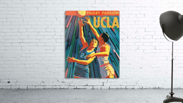 Vintage UCLA Bruins Basketball Poster