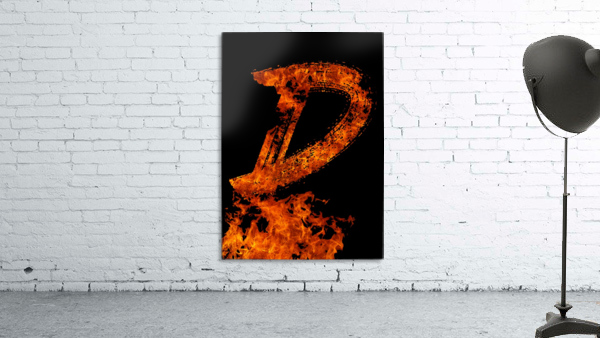 Burning on Fire Letter D